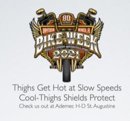 Bike Week 2021 Cool-Thighs Heat Shields